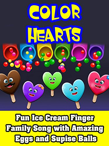 Fun Ice Cream Finger Family Song with Amazing Eggs and Supise Balls