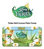 Tinker Bell Tink Script with Flowers Fairies Disney Car Truck SUV Garage Home Office License Plate Frame