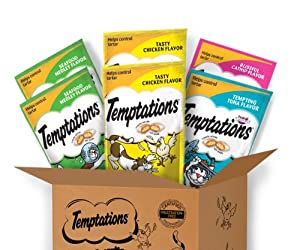 Whiskas Temptations 6 Count Feline Favorites Variety Pack Cat Treats