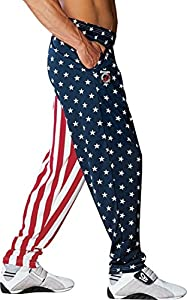 Otomix Men's American Flag USA Baggy Workout Pants Small