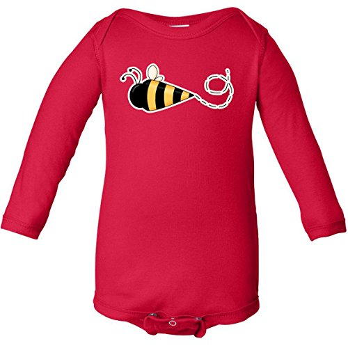 Inktastic Unisex Baby Bumble Bee Long Sleeve Creepers
