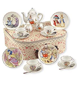 Beatrix Potter Tea Set Peter Rabbit & Friends By Reutter Porcelain - Medium by Reutter Porzellan