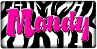 Airbrush License Plate-Zebra Print
