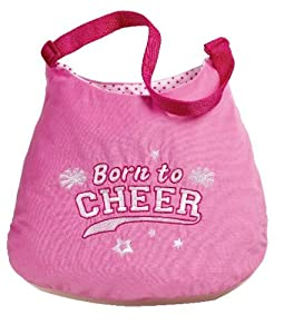 Born To Cheer Tote Bag Purse Handbag - Cheer Purse - Pink
