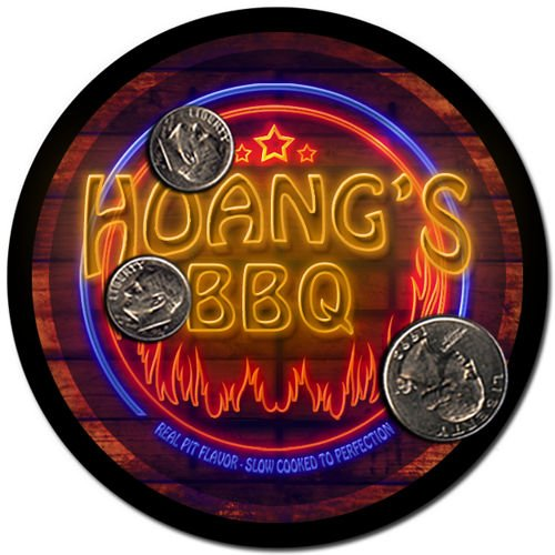 Hoang'S Barbeque Drink Coasters - 4 Pack