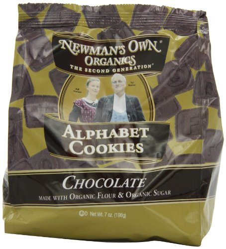 Newman's Own Organics Alphabet Cookies, Chocolate, 7-Ounce Bags (Pack of 6)
