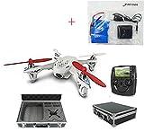 Yacool® Hubsan X4 H107D FPV cámara Quadcopter con llevar el caso, 3 piezas 500mAh baterías, 4 en 1 cargador de batería