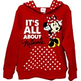 Minnie Mouse Girls Sz 4-16 Red Polka Dot Hoodie