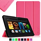 Fintie Kindle Fire HDX 8.9 Slim Shell Case - Ultra Slim Lightweight Leather Standing Cover (will fit Amazon Kindle Fire HDX 8.9 Tablet 2014 4th Generation and 2013 3rd Generation), Magenta