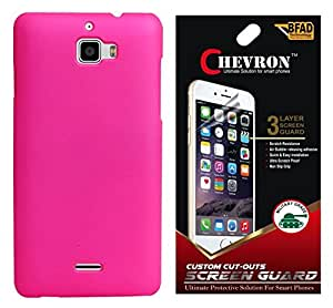 Chevron Back Cover Case for Coolpad Note 3 with HD Screen Guard (Light Pink)