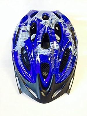 AMMACO 14 VENT BOYS/MENS CYCLE HELMET 54-59cm BLUE/GREY from AMMACO