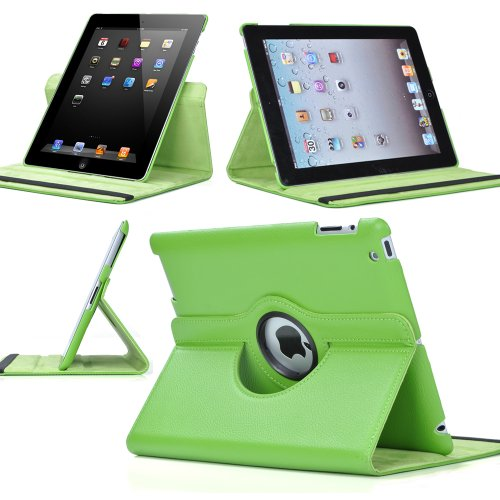 Ctech 360 Degrees Rotating Stand (green) Leather