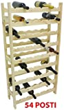 Porta bottiglie cantinetta in legno Naturale 54 posti