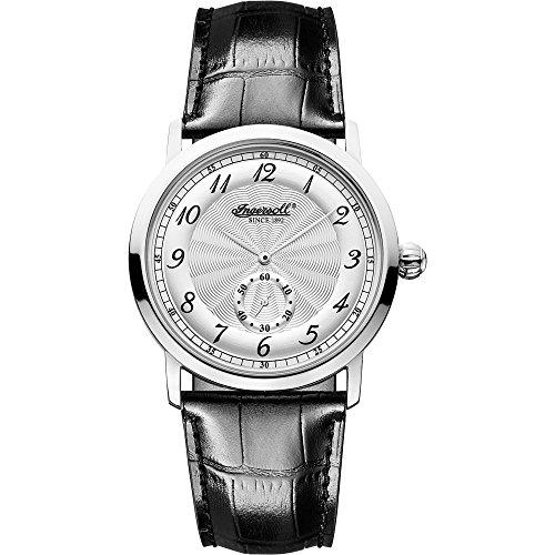 Ingersoll INQ 003 SLSL - Reloj para hombres, correa de cuero color negro