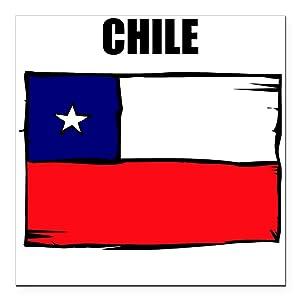 Chile flag car magnet