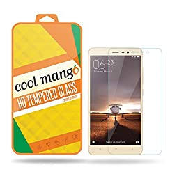 Cool Mango XiReN3_TGL Tempered Glass Screen Protector & Shield for Xiaomi Redmi Note 3 with Installation Kit and Instruction Manual - HD clarity + Best scratch and shatter protection + Highest touch screen accuracy + Oil and water repellent coating + Laser cut round edges + 9H hardness + .3 mm thickness + 2.5 d curved
