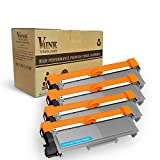 V4INK 4-Pack New Compatible Brother TN630 TN660 Toner Cartridge Black for Brother HL-L2340DW HL-L2300D HL-L2380DW MFC-L2700DW L2740DW DCP-L2540DW L2520DW HL-L2320D MFC-L2720DW L2740DW Printer (Color: 4 Toners)