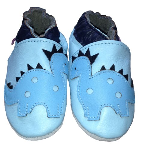 Tiny's - Soft Leather Baby Shoes - Dinosaur