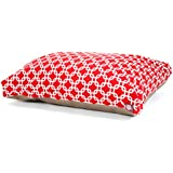 Red Links Extra Large Rectangle Indoor Outdoor Pet Dog Bed With Removable Washable Cover By Majestic Pet Products
