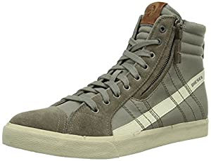 Diesel Men's D-Velows D-String In Nylon Fashion Sneaker, Goat/Sandshell, 10 M US