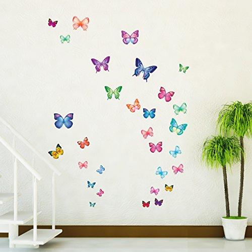 Pegatinas de Mariposas Múltiples Colores y Tamaños