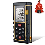 Distance Laser Measurer, CiBest 229ft /70m Portable Laser Distance Meter Rangefinder Finder Handheld Measure Instrument with Min/in/ft , Tape Measure 0.05 to 70m (0.16 to 229ft) (70 M)