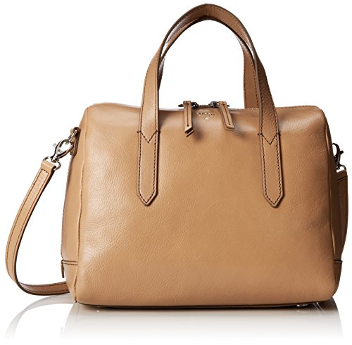 Fossil Sydney Satchel Top Handle Bag, Taupe, One Size
