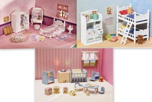 Calico Critters Children's Kids Girls Lavender Bedroom Nightlight Nursery Baby Furniture 3 Sets