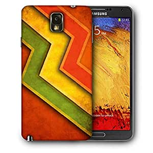 Snoogg Red Yellow Green Printed Protective Phone Back Case Cover For Samsung Galaxy NOTE 3 / Note III