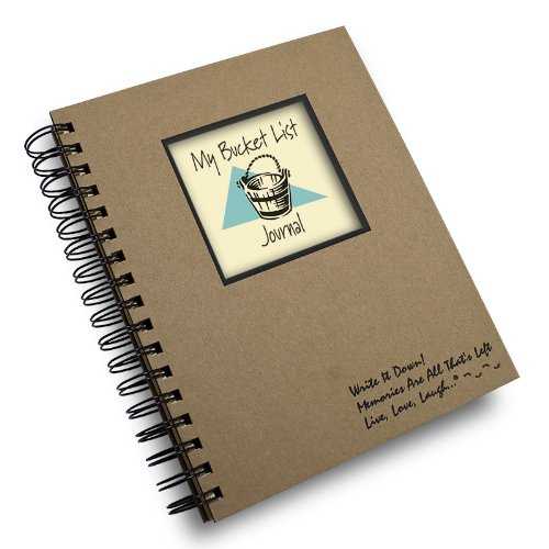 My Bucket List Prompt Journal/Notebook Spiral Bound - Hard Cover and Eco Friendly