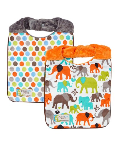 Baby Bibs - Baby Boy Bib Set - Minky Baby Bibs- Elephant Baby Bib