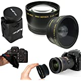 PIXI-GEAR I3ePro 58mm . 43x Wide Angle Lens + 2. 2x Telephoto Lens For 58mm Thread Lenses For Canon Lenses