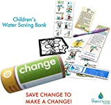 Children's Fun Water Bank Saving Eco-kit| Change | Bank on Savings! Water Conservation Ideas.