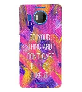 EPICCASE Don't Care Mobile Back Case Cover For Microsoft Lumia 950 XL (Designer Case)