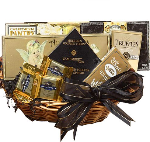 With Heartfelt Sympathy Gourmet Food Gift Basket