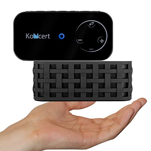 Koncert Portable Nfc Bluetooth Wireless Speaker With Call Speakerphone System Black (Touch Control, 6 Watt Total, 1800Mah Li-Ion)