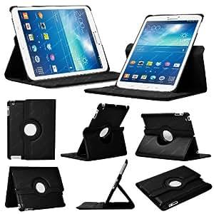 """Stuff4 MR-GT38.0-L360-BK-STY-SP Housse avec rotation à 360° pour Samsung Galaxy Tab 3 8"""" (T310 / T311) Film de protection et Stylet inclus Noir"""