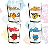 Set of 4 short water glass - Mr Men and Little Miss