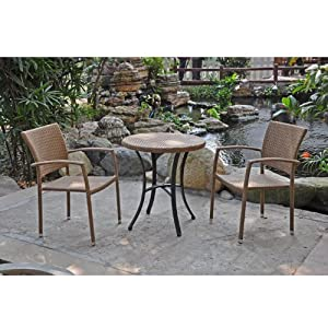 barcelona resin wicker bistro table chairs