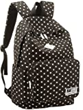 Eshops Lightweight Casual Daypack Backpack for College Bookbag for Women Girls School Bags (Black)