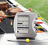2 Pack-Charcoal Companion Steak Station Digital Thermometer