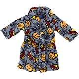 MacHenry Originals Gray Hoops Plush Bath Robe for Toddler Boys