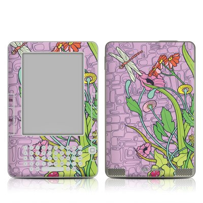 Dragon Fly Field Design Protective Decal Skin Sticker for Amazon Kindle 2 E-Book Reader (2nd Gen)
