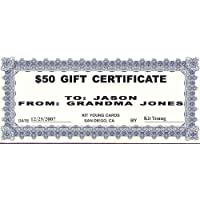 1 - $50 Gift Certificate Kit Young Cards 78896