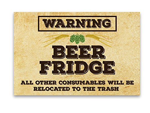 Fridge Funny Beer Warning Magnet - Man Cave Refrigerator 2