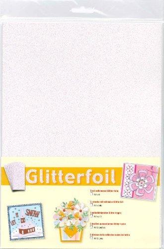 Die-cut Glitter foil Ultra Fine Glitter Foil Sheets for Scrapbooking,