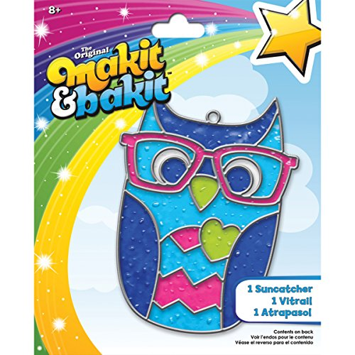 Colorbok Makit and Bakit Suncatcher Kit, Owl