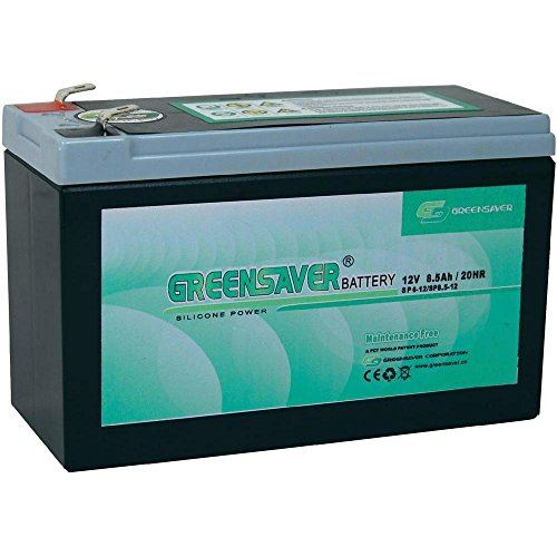 Batterie Silicone-plomb 12 V 8.5 Ah Greensaver SP6-12