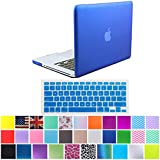 "HDE Frosted Matte Rubber Coated Hard Shell Clip Snap-On Case Cover for Macbook Pro 13"" (A1278) + Matching Keyboard Skin (Deep Blue)"
