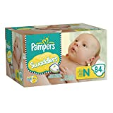 Pampers Swaddlers Diapers Big Pack Size Newborn 84 Count ~ Pampers